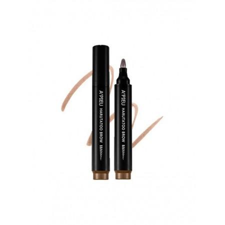 A'pieu Harutatoo Вrow Dark Brown Тинт - маркер для бровей с эффектом татуажа натуральный коричневый, 4,6 гр.