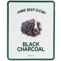 A'pieu Pore Deep Clear Black Charcoal Mask Тканевая маска с черным углем, 25 мл