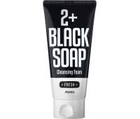 A'pieu 2+ Black Soap Fresh Cleansing Foam Освежающая пена для умывания , 130 мл
