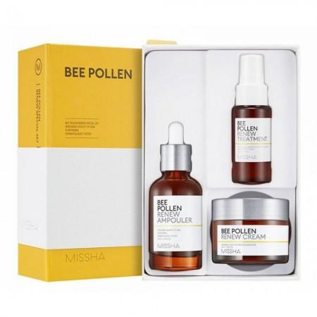 Missha Bee Pollen Renew Набор для ухода за кожей лица, 40, 50, 30 мл