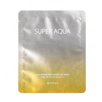 Missha Гидрогелевая маска с муцином улитки Super Aqua Cell Renew Snail, 28 г