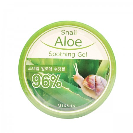 Missha Гель с экстрактом алоэ и муцином улитки Snail Aloe Soothing Gel 285 мл