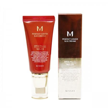Missha M Perfect Cover BB Cream BB крем карамельный беж SPF42 / PA+++ №29, 50 мл.