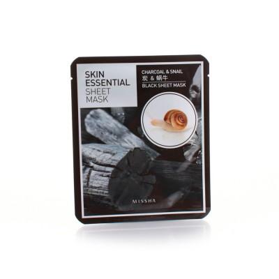 Missha Маска для лица с древесным углем Skin Essential Sheet
