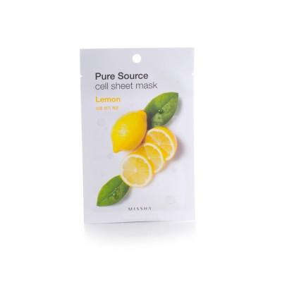 Missha Маска для лица с Pure Cell Sheet Mask Lemon, 21 г