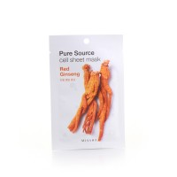 Missha Маска для лица с Pure Cell Sheet Mask Red Ginseng, 21 г