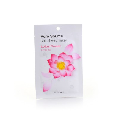 Missha Маска для лица с Pure Cell Sheet Mask Lotus Flower, 21 г