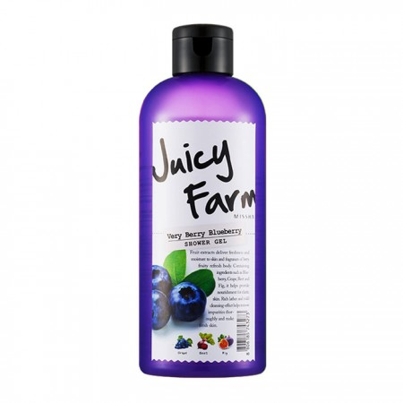 Missha Гель для душа Juicy Farm Very Berry Blueberry, 300 мл