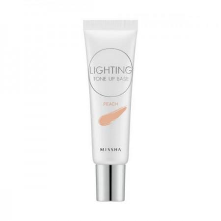 Missha Осветляющая база под макияж Lighting Tone Up Base SPF30 PA++ Peach, 20 мл