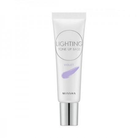 Missha Осветляющая база под макияж Lighting Tone Up Base SPF30 PA++ Violet, 20 мл