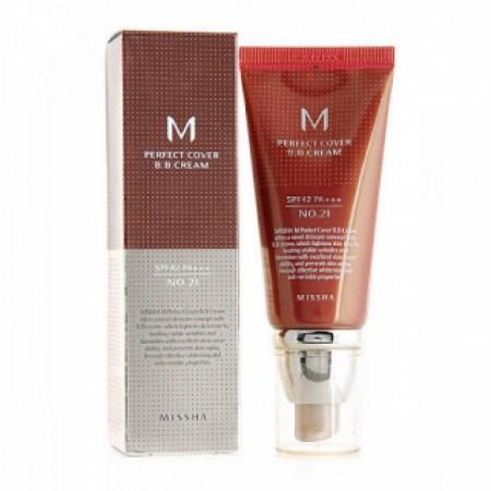Missha M Perfect Cover BB Cream BB Light Beige крем светло-бежевый SPF42 / PA+++ №21, 50 мл.