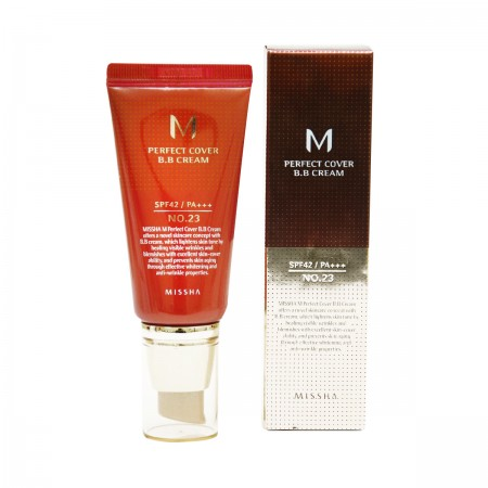 Missha M Perfect Cover BB Cream BB крем натуральный бежевый SPF42 / PA+++ №23, 50 мл