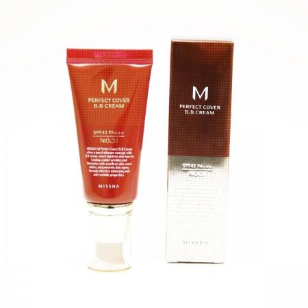 Missha M Perfect Cover BB Cream BB крем золотой беж SPF42 / PA+++ №31, 50 мл.