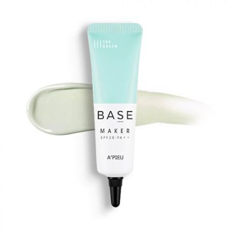 Apieu Base Maker Green База для макияжа зеленый SPF30, 20 мл
