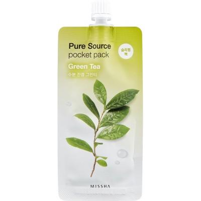 Missha Pure Source Pocket Pack Маска ночная Зеленый чай, 10 мл