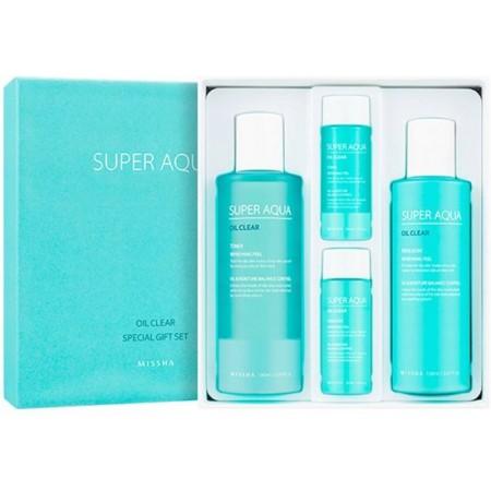 Missha Super Aqua Oil Clear Набор подарочный, 390 мл