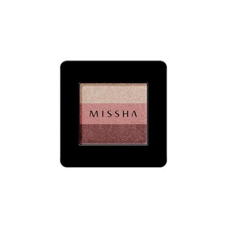Missha Тройные Тени для век (Красный марсала) №6, 2г