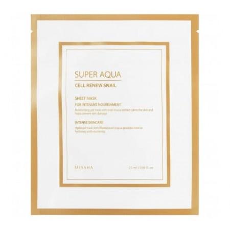 Missha Super Aqua Cell Renew Snail Гидрогелевая тканевая маска 28 г