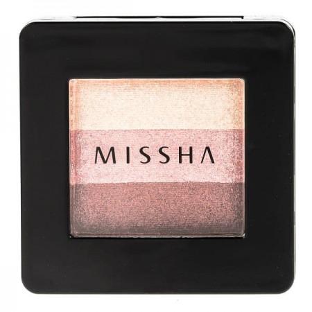 Missha Triple Eye Shadow 3 Colors Browny Pink Компактные тени для век тройные, №1, 2 гр.
