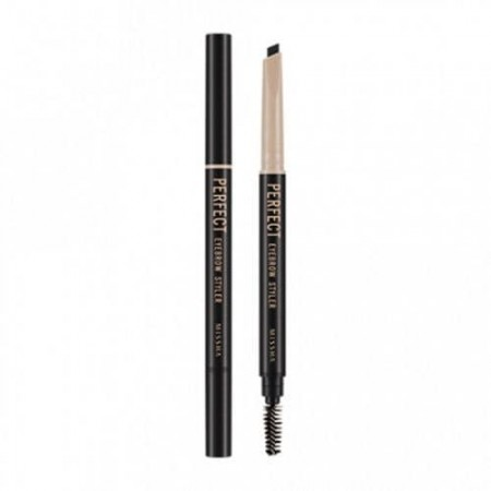 Missha Perfect Eyebrow Styler Black Карандаш для бровей серый, с щеточкой, 0,35 гр.