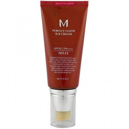 Missha M Perfect Cover BB Cream Bright Beige BB крем SPF42 / PA+++ №13, 50 мл.