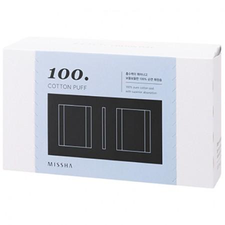 Missha Cotton Puff Ватные диски для демакияжа хлопковые, 100 шт.