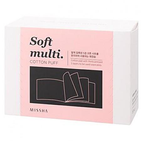 Missha Soft Multi Cotton Puff Ватные диски пятислойные, 80 шт.