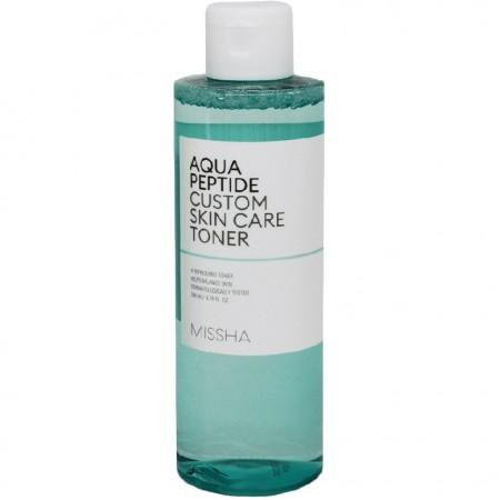 Missha Aqua Peptide Custom Skin Тонер, 200 мл
