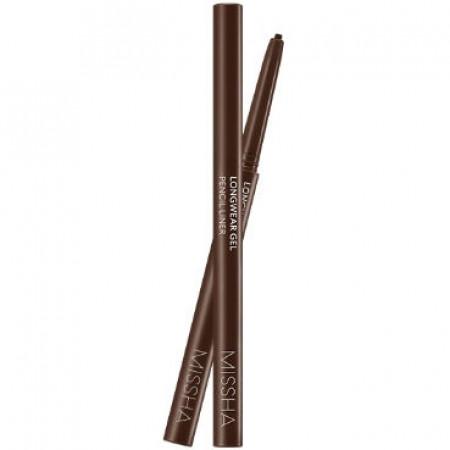 Missha Long Wear Gel Pencil Liner Brown Карандаш для глаз гелиевый, 0,14 гр.