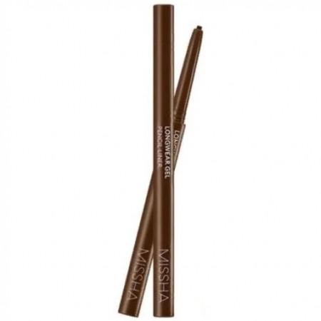 Missha Long Wear Gel Pencil Liner Camel Brown Карандаш для глаз гелиевый, 0,14 гр.