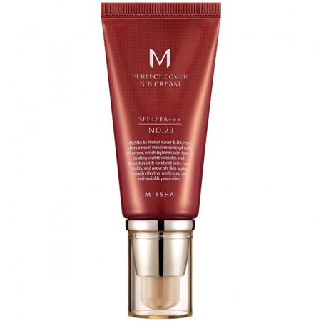 Missha M Perfect Cover BB Cream Natural Beige BB крем натуральный бежевый SPF42 / PA+++ №23, 20 мл.