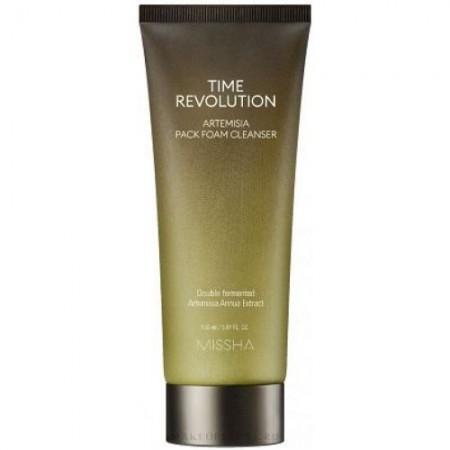Missha Time Revolution Artemisia Pack Foam Cleanser Очищающая пенка-маска для лица, 150 мл.