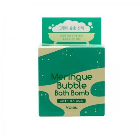 A'pieu Meringue Пенная бомбочка для ванны (Зеленый чай), 100г
