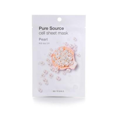 Missha Маска для лица Pure Cell Sheet Mask Pearl, 21 г
