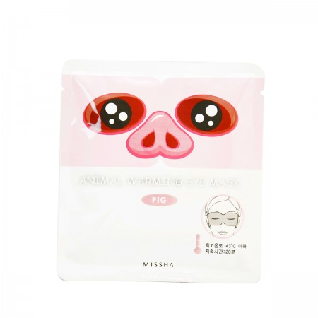 Missha Тканевая маска Animal Warming Eye Mask Pig (Jasmine), 5 шт