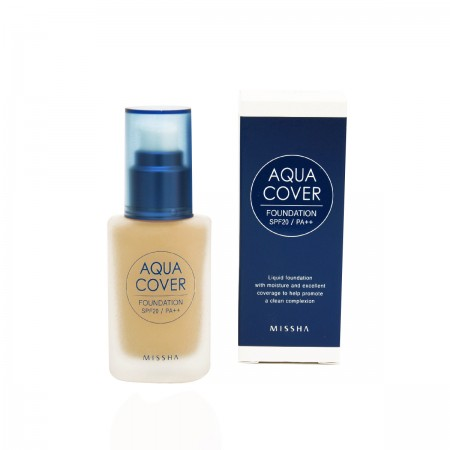 Missha Тональная основа Aqua Cover Foundation SPF20/PA++ (No.23)