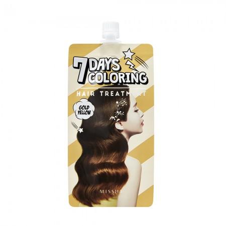 Missha Тонирующая краска для волос Seven Days Coloring Hair желтое золото, 25 мл