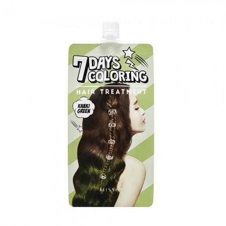 Missha Тонирующая краска для волос Seven Days Coloring Hair зеленый хаки, 25 мл