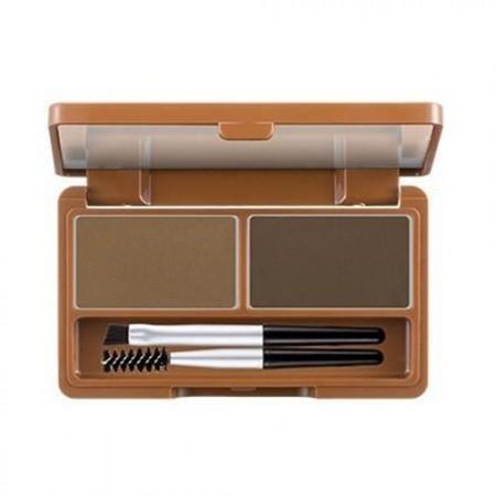 A'PIEU Набор для макияжа бровей Shaping Brow Kit (Темно-коричневый), 5 гр