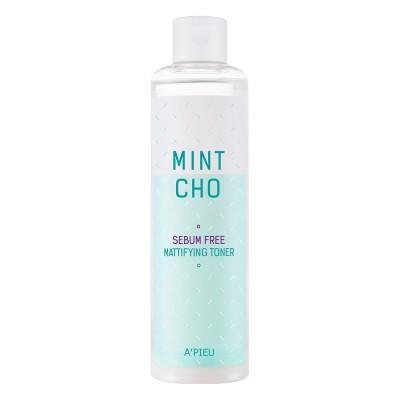 A'PIEU Матирующий тонер Mint Cho Sebum Free Mattifying Toner, 245 мл