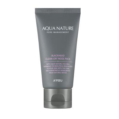 Apieu Маска против черных точек Aqua Nature Blackhead Clean-off Nose Pack, 50 мл