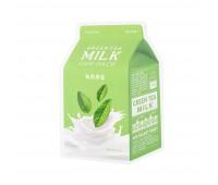 Apieu Тканевая маска с экстрактом зеленого чая Green Tea Milk One-Pack, 21 мл