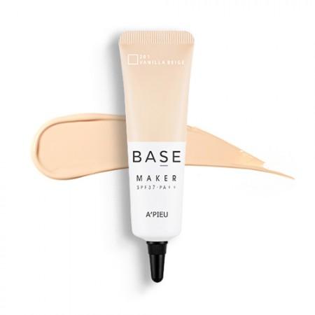 A'PIEU База для макияжа Base Maker Vanilla Beige SPF37, 20 мл