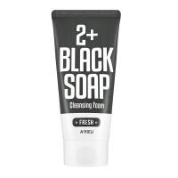 A'PIEU Освежающая пена для умывания 2+ Black Soap Fresh Cleansing Foam, 130 мл