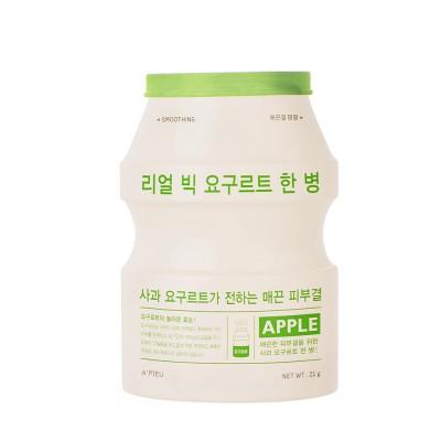 Apieu Смягчающая тканевая маска Real Big Yogurt One-Bottle Smoothing Face Mask Apple, 21 мл
