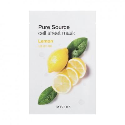 Missha Pure Source Cell Sheet Mask Маска с экстрактом лимона, 21 г