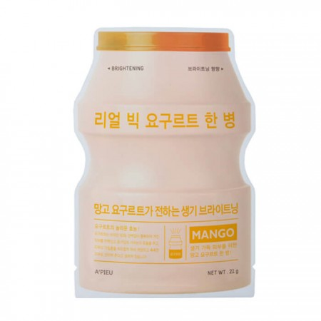 Apieu Real Big Yogurt One-Bottle Тканевая маска (Манго), 21г